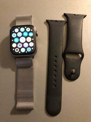 Apple Watch series 4 SS silver 44 mm for Sale in Plano, TX