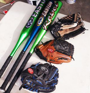Baseball batts and Rawlings gloves for Sale in Phoenix, AZ