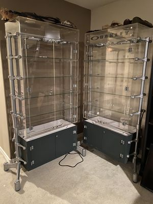 Oakley Sunglass Display Case Set Matching Cases for Sale in Riverside, CA