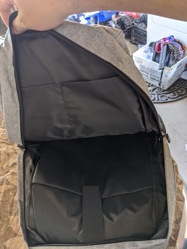 "New 15.6"" Laptop Backpack Professional - Grey"