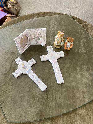 3 pieces precious moments & 2 ceramic figures for Sale in Centreville, VA