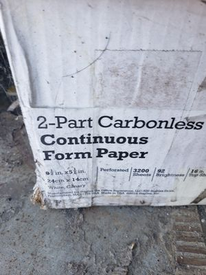 2 part Carbonless Paper for Sale in Stockton, CA