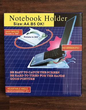 Notebook Holder Size: A4.B5 ok!/Rotates in 360 Degrees - New in box for Sale in Longwood, FL