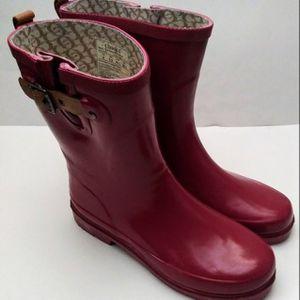 Chooka Top Solid Mid Garnet Pink Rain Boots Women's Size 9 for Sale in Hamden, CT