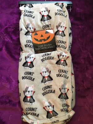 Halloween Terrier Blanket Throw Count DogCula for Sale in Houston, TX