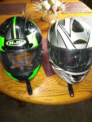 MOTORCYCLE VEST/ TWO HELMET for Sale in Riverside, NJ