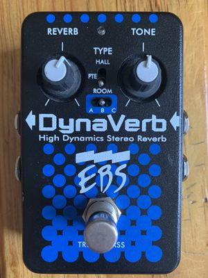 EBS REVERB DYNA VERB HIGH DYNAMICS STEREO REVERB PEDAL for Sale in Miami, FL