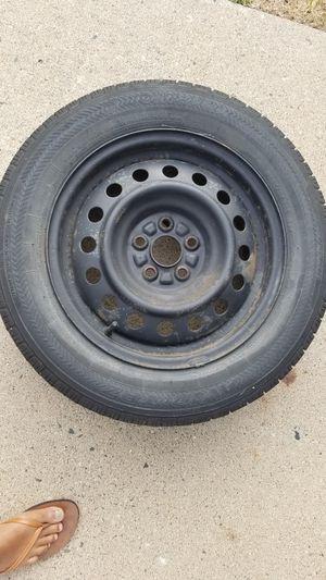 2003-2008 Toyota Corolla 15 Inch 5 Lug Black Steel Rim & P185/65R15 inch tire for Sale in Ann Arbor, MI