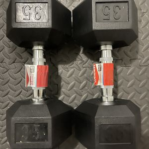 Rubber Dumbbells 35 lb Pair. Brand New for Sale in Miami, FL