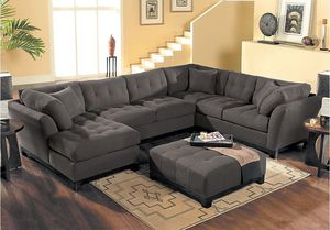 Large brown sectional couch for Sale in Richmond, VA