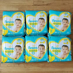 6 Pampers Swaddlers Diapers Size 2 for Sale in Santa Ana,  CA