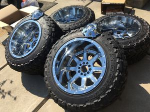 "20x14 Fuel 5x5/5x4.5 Jeep TJ XJ ranger Rubicon wrangler rims & 35"" Toyo MTs for Sale in Modesto, CA"