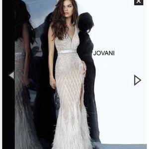 Ivory Embellished V Neck Fitted Jovani Dress 55796 for Sale in Palos Park, IL