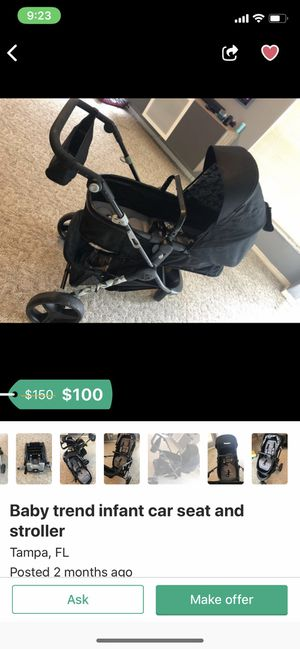 Baby car seat and stroller for Sale in Tampa, FL