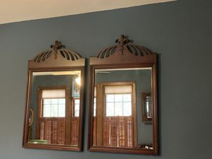 Set of two (2) wood mirrors for Sale in Washington, DC