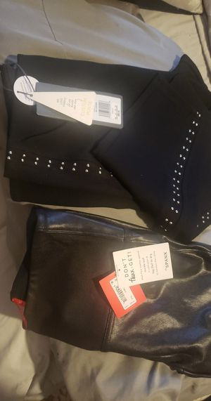 Black Lysse pants sz L & faux leather pants sz M both are new w/tags $98 for Sale in Asheville, NC