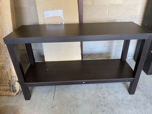 Espresso color console table 48x30x20 new excellent condition just assembled. / price is firm for Sale in Las Vegas, NV
