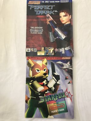 Nintendo Power Official Player's Guide: StarFox 64 & Perfect Dark Good Condition Both For $20 for Sale in Reedley, CA