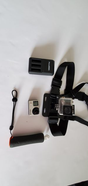 GoPro Hero 4 Camera with Underwater Housing, Handle, Chest Strap, Battery, and Charger for Sale in SUNNY ISL BCH, FL