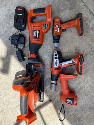 Black & Decker Power Tools 14.4v & 18v for Sale in ROWLAND HGHTS, CA