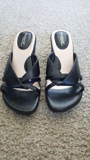 """Size 7M FlexiSole Illinois Black Slide Sandals 2.5"""" Heel for Sale in Tempe, AZ"""