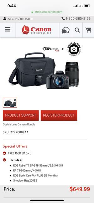 Canon EOS Rebel T7 Bundle for Sale in Eagle Mountain, UT