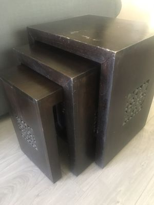 Cost Plus World Market Nesting Side Tables for Sale in Clovis, CA