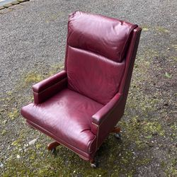 Thomasville Red Leather Desk Chair for Sale in Sammamish,  WA