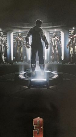 Marvel Iron Man 3 Original Theater Teaser Poster for Sale in Los Angeles,  CA