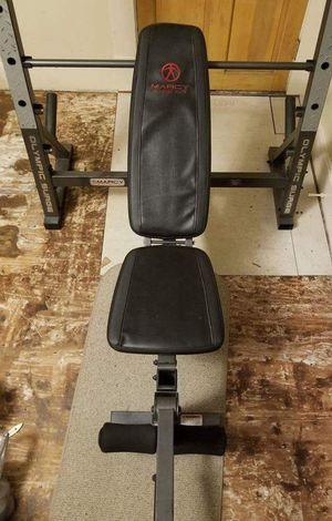 Marcy Olympic Weight Bench with 45 lb Barbell for Sale in Edwardsville, IL