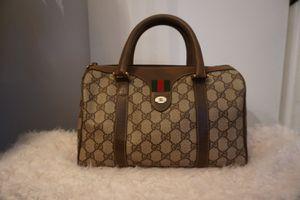 Vintage Gucci Accessory Collection GG Supreme Monogram Boston Bag for Sale in Hercules, CA
