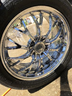 FORGED CHROME RIMS (Price is negotiable) for Sale in Collinsville, IL