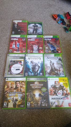 XBOX 360 GAMES for Sale in Sterling Heights, MI