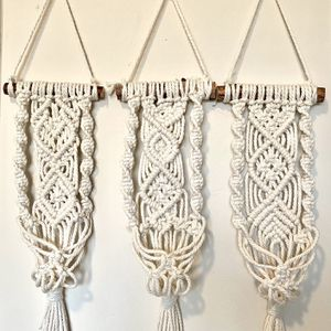 (A) Set of 3 Macrame Plant Hanger for Sale in Bakersfield, CA