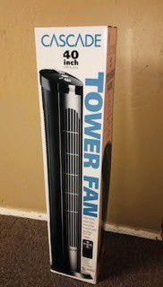 $20 each 40 inches spinning cascade fan open box tower fan oscillation timer quiet for Sale in Montebello, CA