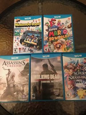 Nintendo Wii U with 5 Games great condition work excellent $150 for Sale in Tucker, GA