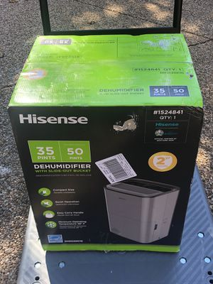 Hisense 35-Pint 2-Speed Dehumidifier ENERGY S TAR for Sale in Corinth, TX