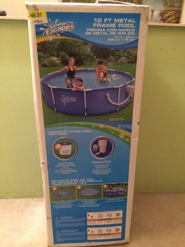 10 ft metal frame Pool