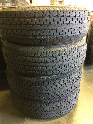ST205/75R14 Trailer Tires, Set of 4 Plus 1 New for Sale in Sunnyvale, CA