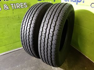 Two ST 225/75/15 TRAILER KING ST RADIAL TRAILER TIRES, FREE MOUNT AND BALANCE!! for Sale in Tampa, FL