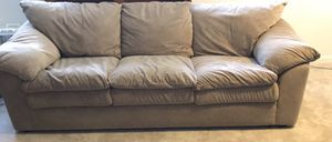 Couch and love seat-tan microfiber for Sale in Pasadena, MD