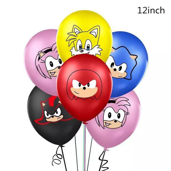 Sonic The Hedgehog 15pcs Cute Latex Balloons.
