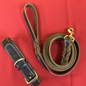 Leather Dog Collar And 6' Leather Leash for Sale in Los Angeles, CA