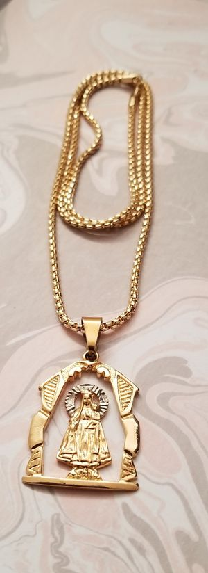 💎💎💎30inch 18k Gold Filled Round Box Chain and Pendant 🚘🚘I Deliver💎💎Won't Change Color for Sale in Miami Gardens, FL