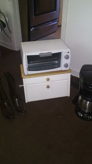 Boots, mini oven, coffee maker, bread storage for Sale in Fort Worth, TX