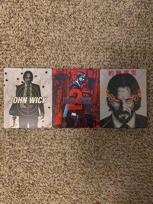 John Wick Steelbooks 1-3 for Sale in Kernersville, NC
