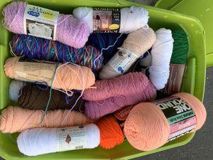 Unused knitting yarn skein spools for Sale in Fullerton, CA