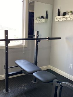 Multifuncional BENCH PRESS with BARBELL for Sale in Chula Vista,  CA