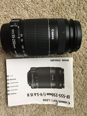 Canon EF-S 55-250mm f/4.0-5.6 IS Lense for Sale in Kissimmee, FL