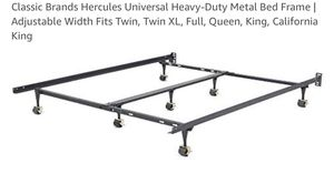 BRAND NEW Classic Brands Hercules Universal Heavy-Duty Metal Bed Frame | Adjustable Width Fits Twin, Twin XL, Full, Queen, King, California King Cla for Sale in Hialeah, FL